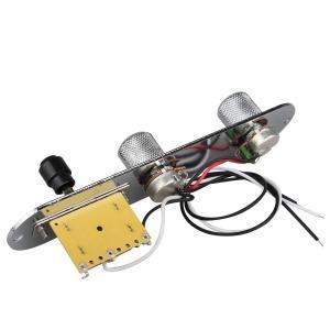 テレキャスターギター用 Telecaster型ギター テレキャスター用カスタム回路 、コントロールプレート、スイッチセット 配線済み コント|huratto