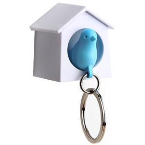 QUALY 鍵の置き場所に ミニ スパロウキーリング ブルー 5217047BL|huratto