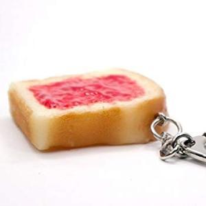 食品サンプルキーホルダー 食べちゃいそうなトースト(ジャム) 127OK|huratto