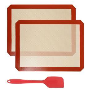 GWHOLEクッキングマット 製菓マット ベーキングマット シリコーン シルパット シリコン 焼き菓子用マット40 x 30 cm 耐熱クッ|huratto