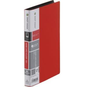 キングジム 名刺ホルダーコンパクトタイプ ショットドックス 42SD 赤