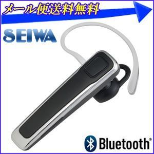 Bluetoothハンズフリーイヤホンマイク ME4UD BT670 ブラック セイワ SEIWA 両耳対応 ブルートゥース イヤホン ハンズフリーセット ハンズフリー 通話 音楽|hurry-up