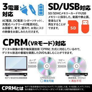 DVDプレーヤー 本体 ポータブル 車載 車 ...の詳細画像3