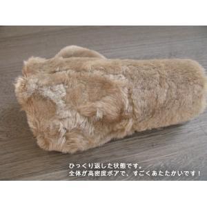 人気の暖か本革手袋 ムートンレザーグローブ 3色展開;J122- hushop 14
