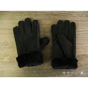 人気の暖か本革手袋 ムートンレザーグローブ 3色展開;J122- hushop 04