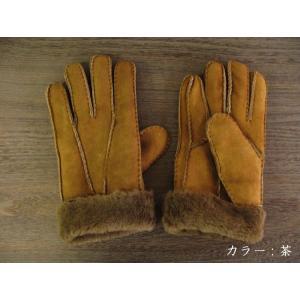 人気の暖か本革手袋 ムートンレザーグローブ 3色展開;J122- hushop 06