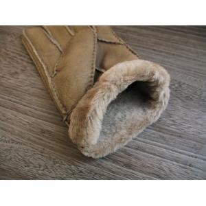 人気の暖か本革手袋 ムートンレザーグローブ 3色展開;J122- hushop 08