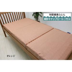 特典付き 幅95cm シングル 快眠健康敷ふとん キャップロール (ルネッタ)|hutonkan|03