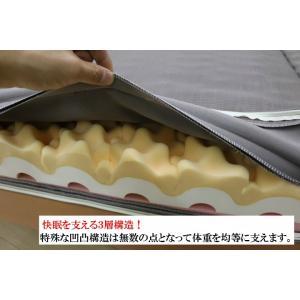 特典付き 幅95cm シングル 快眠健康敷ふとん キャップロール (ルネッタ)|hutonkan|05