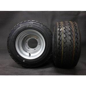 ●2スト6穴ハブ用8×7J:チューブレス:スチールホイール、タイヤ2本セット ●スペーサー無でミニカ...