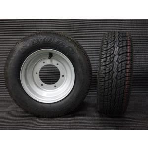 2st ジャイロシリーズ・ノーマルタイプ8インチホイールタイヤ2本セット (W8-4-2) シルバー hvfactory