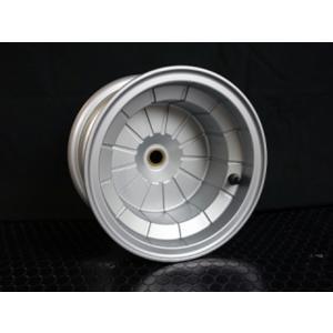 8インチ5J ブレーキドラム一体型チューブレスアルミホイール (AW8-4st-S) シルバー hvfactory