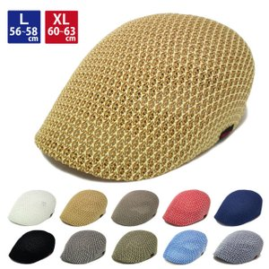 帽子 ハンチング 涼しい メッシュ 大きいサイズ L XL えらべる2サイズ 全13色 hun-42...