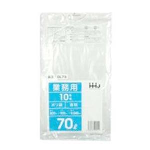 ポリ袋70L 透明 厚手0.04mm 10枚×40冊(400枚) GL73 hyakuemonplus