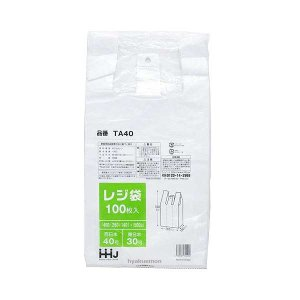 レジ袋 TA4040号 乳白100枚|hyakuemonplus