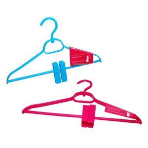 クリップ付ハンガー スラックスやパンツなどの裾を吊るして しわ伸ばし 商品サイズ:幅約38.5cm高...