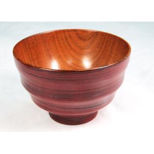 木製汁椀 乱筋 根来・曙 内スリ漆 汁碗・お碗 木の木目をデザインとして使ってます 和食器