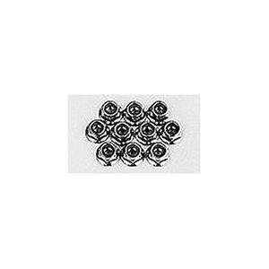 タミヤ HOP-UP OPTIONS OP-24 4mm アルミフランジロックナット (10個セット)|hyakushop