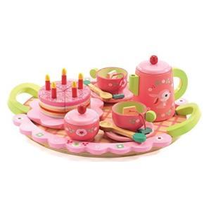 木のおもちゃ おままごと リリローズ ティーパーティー DJ06639 対象年齢4歳から hyakushop