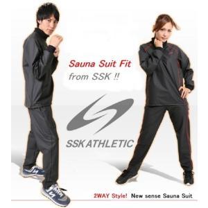 SSK サウナスーツ Fit レッド S [ レディース メンズ 兼用 ][ インナー アウター 兼用 ]|hyakushop