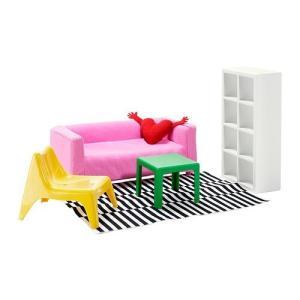 IKEA HUSET ミニチュア家具 リビングルーム  30235511 hyakushop