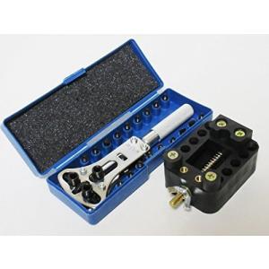 腕時計 裏蓋開け器 ( 3点支持 オープナー 固定台 セット ) 工具 防水 時計 電池 交換 用 サイズ 選択 可 (開閉幅最大37cm)|hyakushop