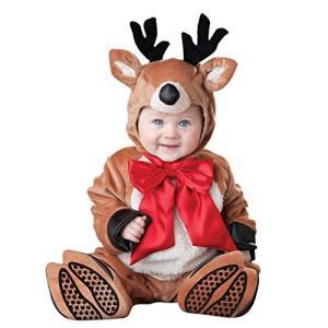 クリスマス カバーオール 赤ちゃん サンタ トナカイ 着ぐるみ ベビー服 男の子 女の子 80サイズ|hyakushop