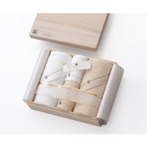 CONCENT 今治謹製 Shifuku Towel(至福タオル) 木箱入り SH2410 (バスタオル2P/フェイスタオル2P)|hyakushop