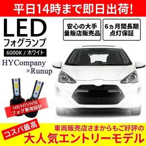 H8/H9/H11/H16 6000k 5000LM ルーメン 2本セット  フォグランプ 専用  オールインワン コンパクト 12V|hycompany