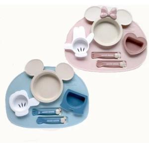 ディズニー ミッキーマウス ベビー食器セット 出産祝い 電子レンジ使用可 赤ちゃん  お食事セット 離乳食 女の子 男の子 ポリプロピレン|hydiya