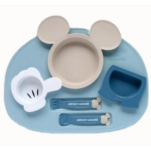 ミッキーマウス ベビー食器セット 出産祝い お食事セット 離乳食 女の子 男の子 ポリプロピレン スモークトーン|hydiya|03