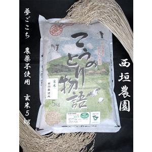 「西垣農園」こうのとり物語 夢ごこち 玄米5kg(自然農法米 農薬不使用) hyogo-tokusanhin