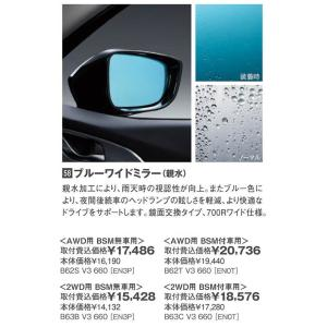 ブルーワイドミラー(親水)<2WD用・BMS付車用>/BMアクセラ(マイナーチェンジ後)/純正オプション/B63C-V3-660|hyogoparts