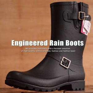 完全防水 防滑 レインブーツ エンジニアブーツ ブーツ 長靴...
