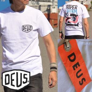 120%正規品 Deus ex Machina(デウス エクス マキナ)半袖 Tシャツ メンズ 背面プリント DMP71489B|hype