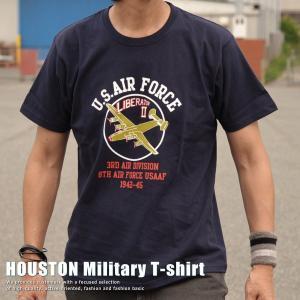 正規 HOUSTON ヒューストン Military U.S.AIR FORCE Tシャツ メンズ 213H75【UNI】■02170810|hype