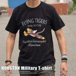 正規 HOUSTON ヒューストン Military FLYING TIGER Tシャツ メンズ 211H67【UNI】■02170810|hype