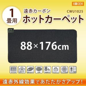 コーデン 1畳用 遠赤カーボンホットカーペット 本体 省エネ 室温センサー内蔵、ダニクリーン機能付き 88×176cm CWU1025|hyplus