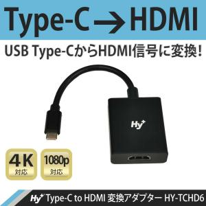 Hy+ Type-C to HDMI 変換アダプター HY-TCHD6 4K映像対応(Xperia5ii Xperia1ii AQUOS R5G arrows 5G Galaxy S20 5G/S20+/S10/S10+対応)|hyplus