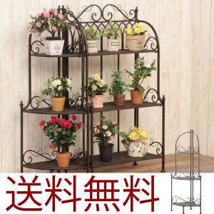 プランター 3段コーナーラック アンティーク ガーデン3段プランター フラワーラック プランター フラワースタンド 花台 鉢置き|hypnos