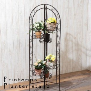 ポット6点 アンティーク フラワーラック プランター フラワースタンド 花台 鉢置き エクステリア ガーデン ガーデニング カントリー ガーデンファニーチャー|hypnos