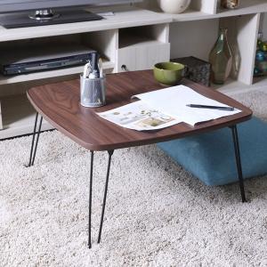 ローテーブル 角60 ブラウン 角テーブル 折り畳み テーブル 角卓 ミニテーブル フォールディングテーブル 折畳テーブル 折り畳みテーブル|hypnos