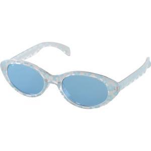 キッズサングラス 子供用 サングラス メガネ UVカット  LYCS006 ブルー  かわいい 花柄|hypnos