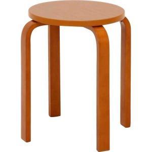 スツール 木製曲脚イス ブラウン 椅子 イス 腰掛 いす hypnos