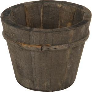 木製ガーデンポット ラウンド プランターカバー 鉢カバー ブラウン ウッド|hypnos