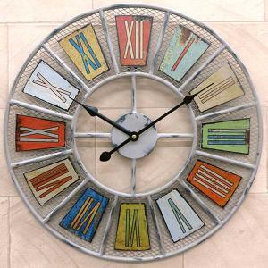 壁掛け時計/時計/おしゃれ/デザインウォールクロック/アンティーク/メッシュ/アメリカン|hypnos