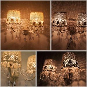 ウォールランプ フレンチレース 2ウォールランプ アンティーク エレガント レトロな照明 2灯ランプ アンティーク調 室内照明 間接照明|hypnos