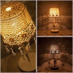 フレンチレース テーブルランプ 間接照明 北欧 ヨーロピアン レース Chandelier French Lace Table Lamp|hypnos