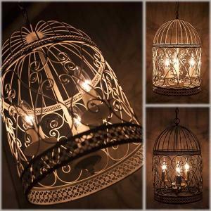 シャンデリア 3灯 バードケージ 3灯シャンデリア 鳥かご ヨーロピアン アンティーク調|hypnos