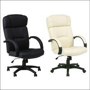 パソコンチェアー/プレジデントチェアーW-99ブラック/キャスター付きデスク椅子/オフィスチェアー|hypnos
